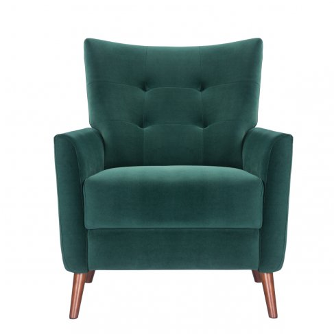 emerald green armchair sofa-chair front view